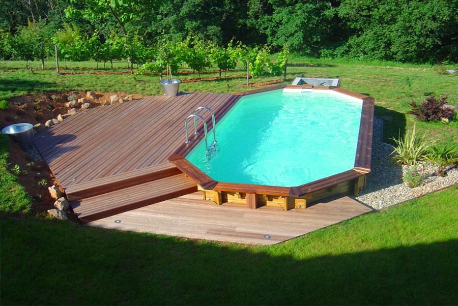 Kit piscine bois adam piscines for Kit piscine miroir